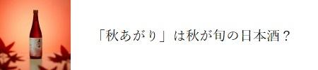 「秋あがり」の日本酒の旬は?